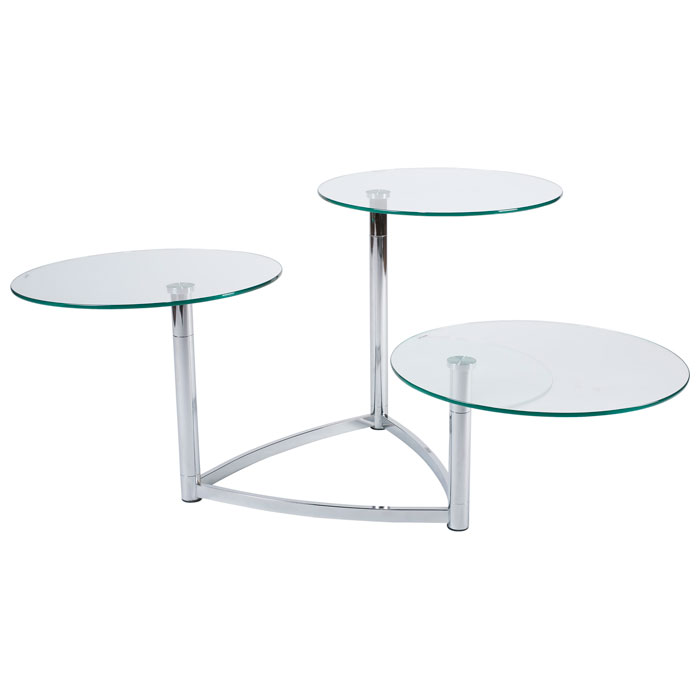 Cascade 3-Tier Swivel Table - ADE-WK5106-22