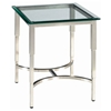 Sheila Contemporary End Table - Stainless Steel, Glass Top - ACD-20502-02-G