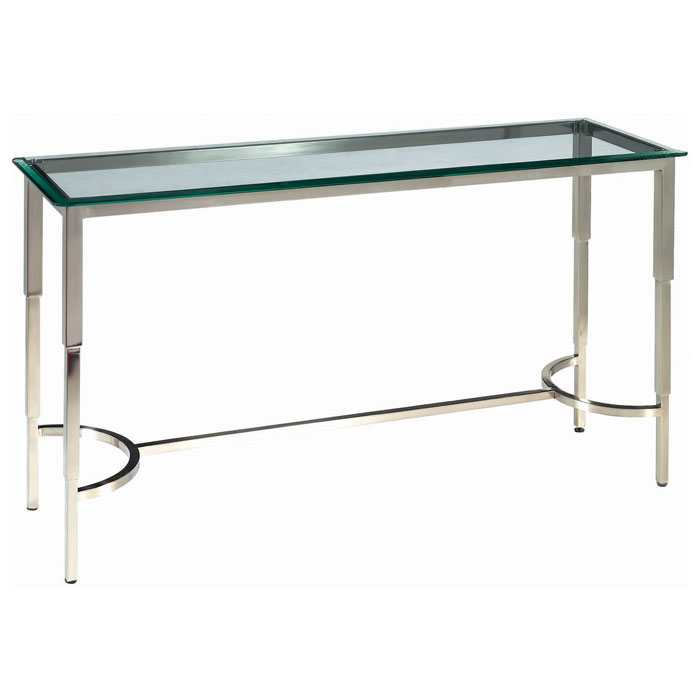 Sheila Contemporary Console Table Stainless Steel Glass