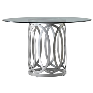 Alchemy Contemporary Dining Table - 42 Round Glass Top