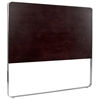 Artesia Panel Headboard - Mocha on Oak Finish, Satin Nickel Frame - ACD-20901-80