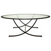 Wellington Cocktail Table - Oil Rubbed Bronze, Oval Glass Top - ACD-20902-011
