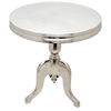 Barbados Round Top Side Table - Polished Cast Aluminum - ACD-20906-02