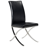 Emma Contemporary Dining Chair - Bonded Leather