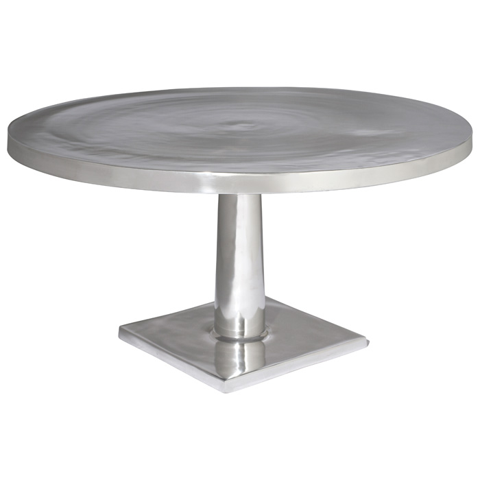 Surina Contemporary Cocktail Table - Cast Aluminum, Round Top - ACD-21201-01R