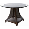 Bianca Dining Table - Meshed Metal Base, 48'' Glass Round Top - ACD-2301-44-G48R