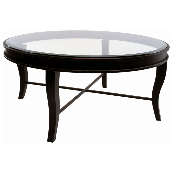 Dania Metal Cocktail Table Yard Gold Finish Round Glass Top DCG