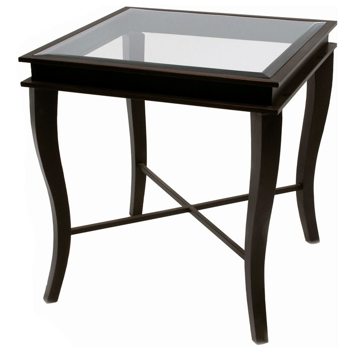 Dania Metal End Table Yard Gold Finish Square Glass Top Dcg Stores