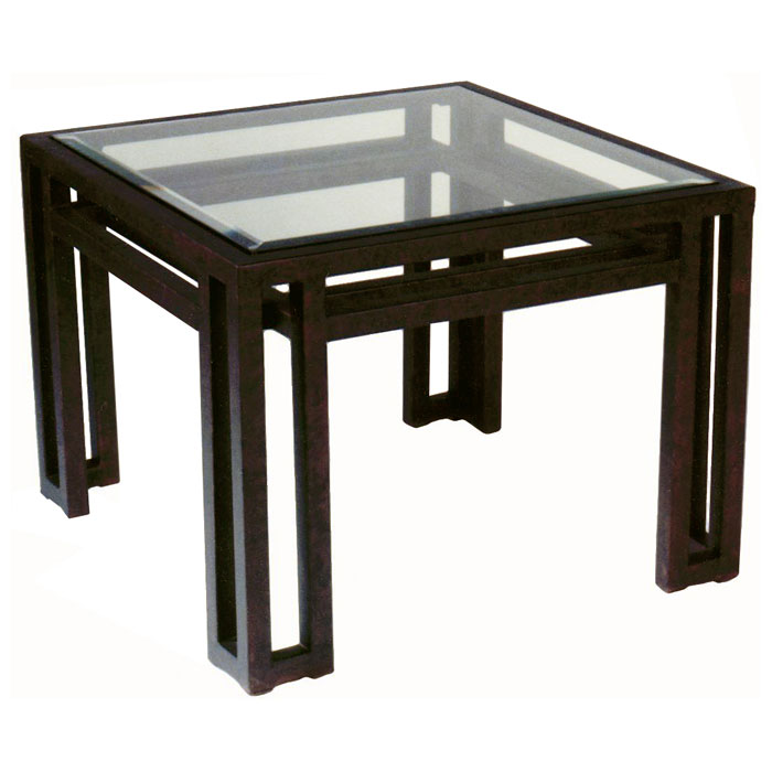 Wonderful Paulette Metal End Table   Cast Brass, Square Glass Top   ACD 2801  ...