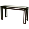 Paulette Metal Console Table - Cast Brass, Beveled Glass Top - ACD-2801-03-G