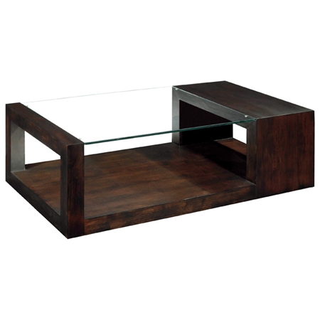 Modern Glass And Wood Coffee Table : Dado Contemporary Cocktail Table - Espresso, Wood & Glass Top  DCG ...