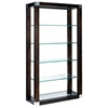 Calligraphy 5-Tier Display Unit - Espresso, Glass Shelves - ACD-30504-10