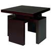 Sebring Wood End Table - Mocha on Oak, Square Top - ACD-30505-02-MO