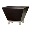 Sebring Wood Occasional Table - Mocha on Oak, Stainless Steel - ACD-30505-025-MO