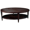 Marla Oval Cocktail Table - Espresso on Birch, Lower Shelf - ACD-30506-01