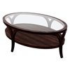 Sebastian Cocktail Table- Espresso on Birch, Oval Glass Top - ACD-30902-011