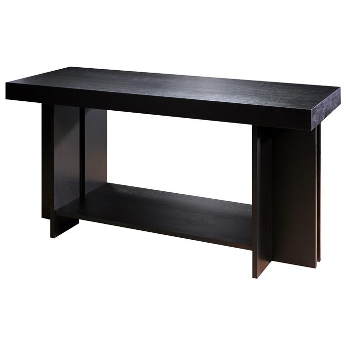 High Quality La Jolla Wood Console Table   Espresso, Rectangular Top, Shelf