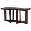 Bridget Console Table - Espresso on Birch, Glass Insert - ACD-31104-03
