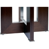 Bridget End Table - Espresso on Birch, Glass Insert, Square Top - ACD-31104-02