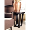 Andy Wood End Table - Black on Oak, Round Top - ACD-3308-02