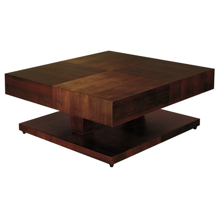 Sarasota Two Tone Cocktail Table Walnut Square Top