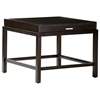 Spats Square End Table - Espresso, Satin Nickel Pulls, 1 Drawer - ACD-3402-02-E