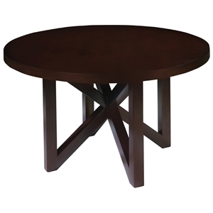 Snowmass 54 Round Dining Table - Espresso on Birch