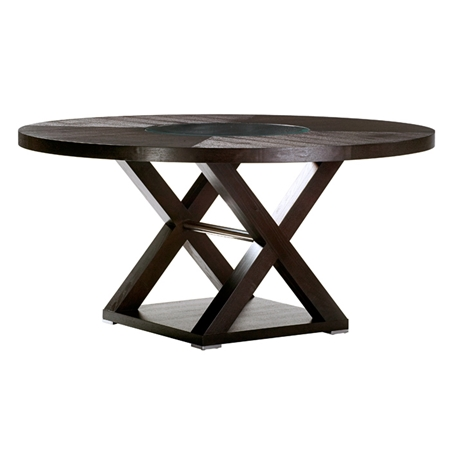 Halifax 60 39 39 Round Top Dining Table Espresso Glass
