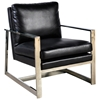 Christopher Lounge Chair - Bonded Leather, Sleigh Legs - ACD-61201