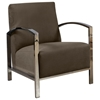Teresa Contemporary Lounge Chair - Polished Stainless Steel - ACD-61202