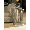 Alex Metal End Table - Satin Nickel Base, Glass Top - ACD-20702-02-G
