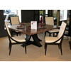 Bonita 66'' Square Dining Table - Zebrawood, Mocha on Oak - ACD-30703-04