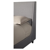 Amber Upholstered Bed - Gray Linen - ALP-1094-BED