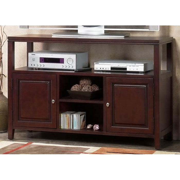 anderson server table tv stand in medium cherry finish alp11303