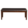 Anderson Bench - Medium Cherry Frame, Espresso Cushion - ALP-113-07
