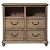 Melbourne 4-Drawer TV Media Chest - French Truffle - ALP-1200-11