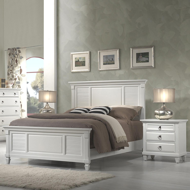 Winchester Shutter Panel Bedroom Set White Dcg Stores