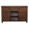 Columbia Server - Walnut, 3 Drawers, 2 Doors - ALP-1420-06