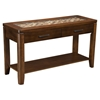 Granada Sofa Table - Brown Merlot, Glass Insert and Shelf - ALP-1437-23