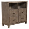 Charleston 4-Drawer TV Media Chest - Antique Gray - ALP-1500-11