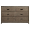 Camilla 6 Drawers Dresser - Antique Gray - ALP-1800-03