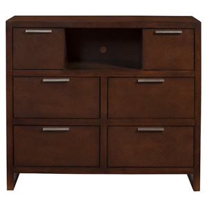 Urban 6-Drawer TV Media Chest - Merlot
