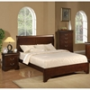 West Haven Sleigh Bedroom Set - Cappuccino - ALP-2200-BED-SET