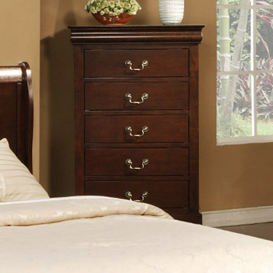 West Haven Five Drawer Chest in Cappuccino - ALP-2204