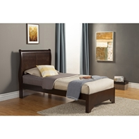 West Haven Twin Sleigh Bed - Cappuccino