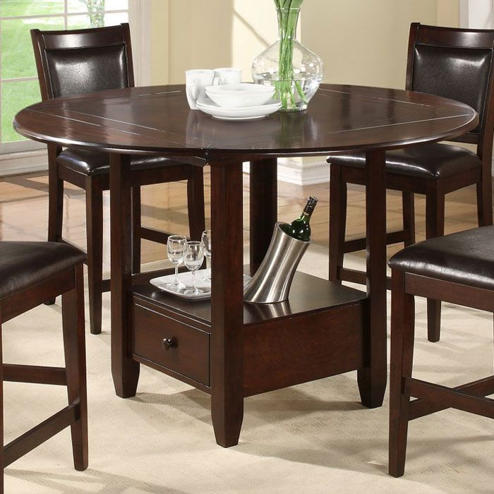 Morgan Counter Height Drop Leaf Table   ALP 259 22 ...