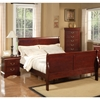 Louis Philippe II Bedroom Set - Cherry - ALP-2700-BED-SET