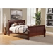 Louis Philippe II Sleigh Bed - Cherry - ALP-2700-BED