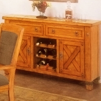 Santa Fe Caramel Oak Buffet Table
