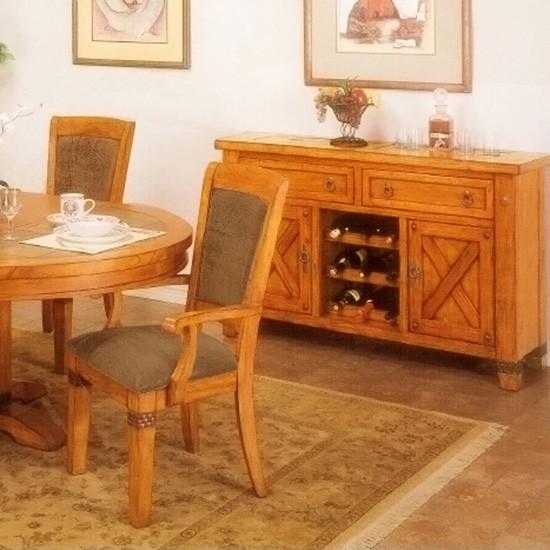 santa fe caramel oak buffet table dcg stores rh dcgstores com oak buffet table oak buffet table